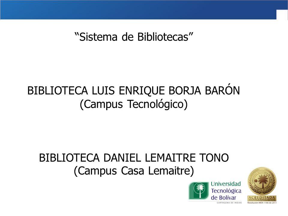 Misión Proveer el acceso a los servicios de información y gestión del conocimiento para apoyar la docencia, la investigación y la extensión de la Universidad Tecnológica de Bolívar; mediante la eficiente prestación de los servicios de información, gestión gerencial, tecnología y valores institucionales, en beneficio del crecimiento humano y científico de la comunidad académica y la región Caribe.