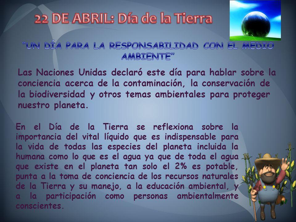 En el Día de la Tierra se reflexiona sobre la importancia del vital líquido que es indispensable para la vida de todas las especies del planeta inclui