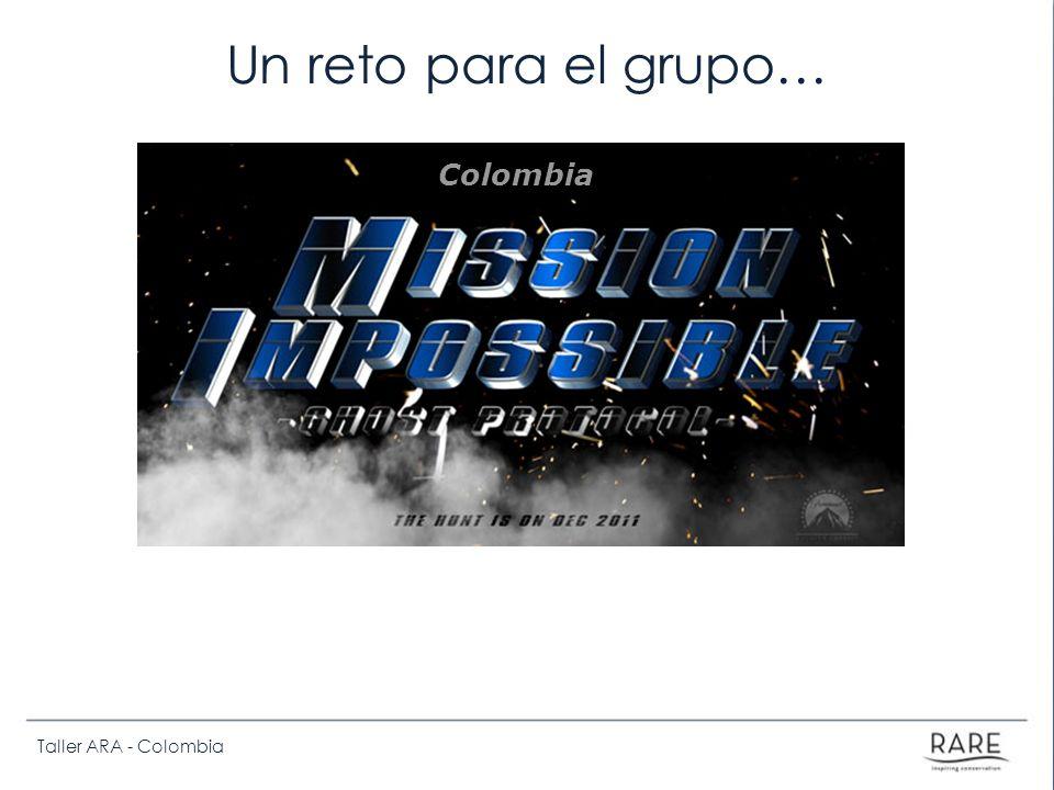 Taller ARA - Colombia Un reto para el grupo… Colombia