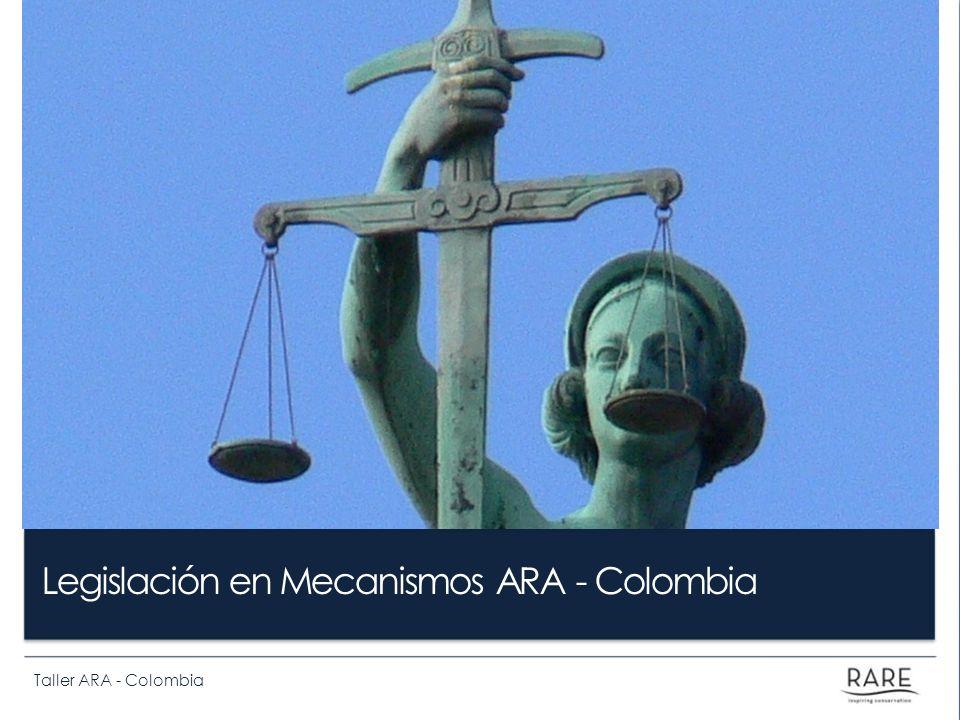Taller ARA - Colombia Legislación en Mecanismos ARA - Colombia