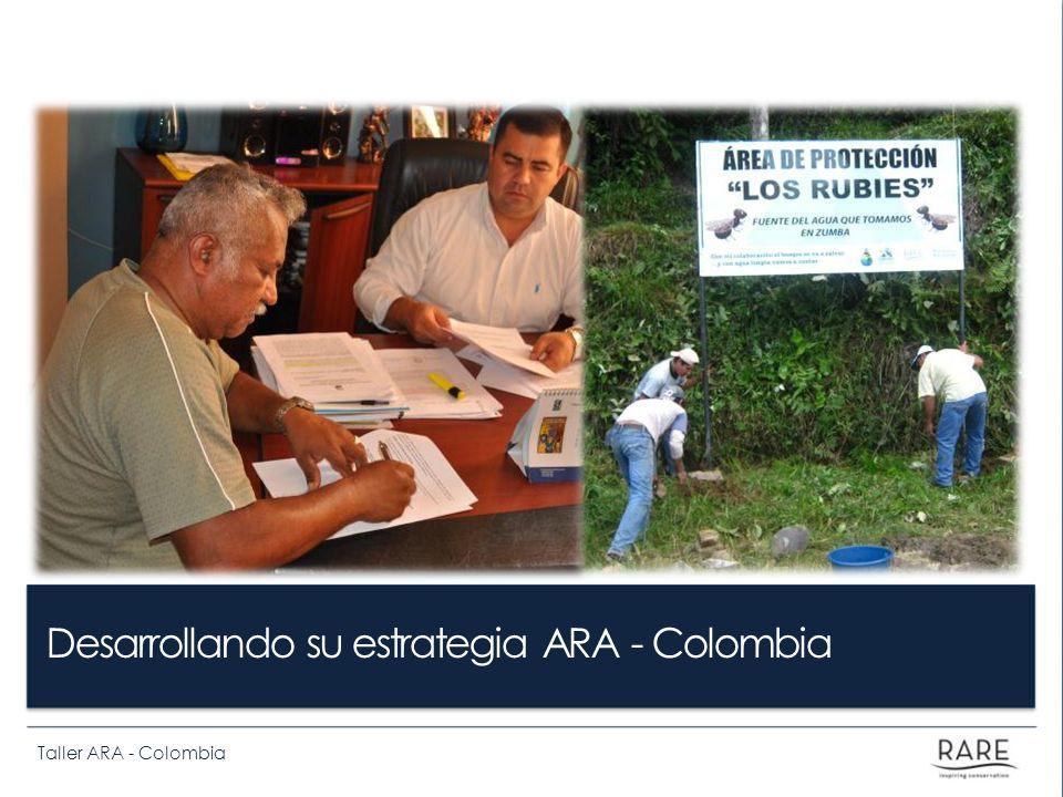 Taller ARA - Colombia ¿Cómo vamos a trabajar en las siguientes horas.