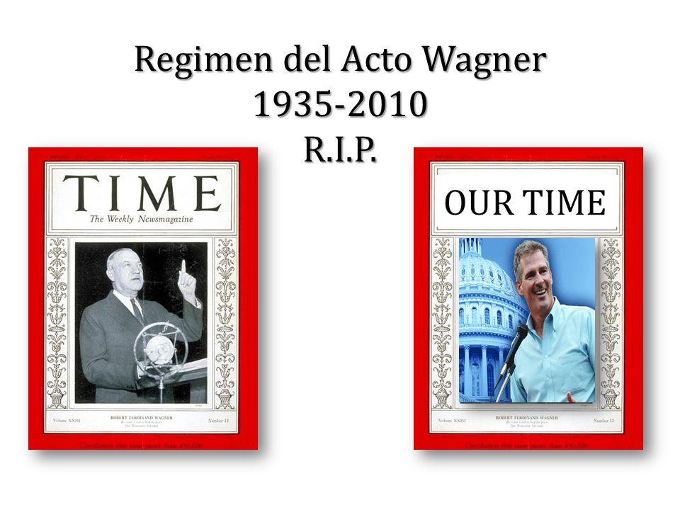 Regimen del Acto Wagner 1935-2010 R.I.P. OUR TIME