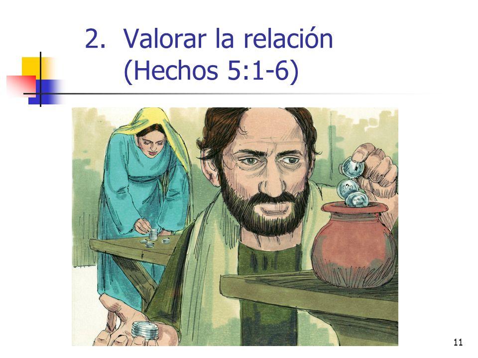 11 2.Valorar la relación (Hechos 5:1-6)