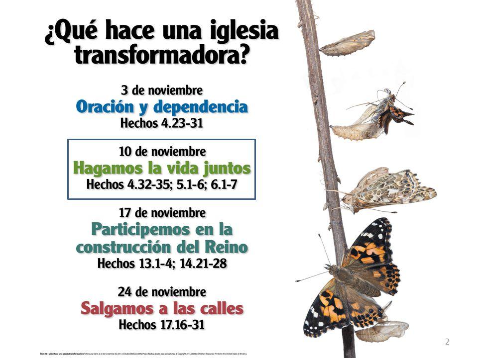 Próximo Estudio Dominical 4 to Trimestre/Tema 3: ¿Qué hace una iglesia que Dios usa para transformar.