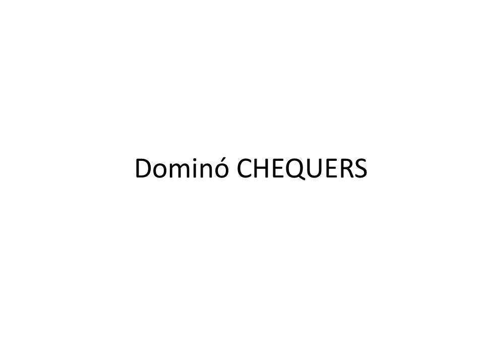 Dominó CHEQUERS