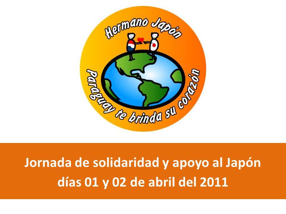 Jornada de solidaridad y apoyo al Japón días 01 y 02 de abril del 2011