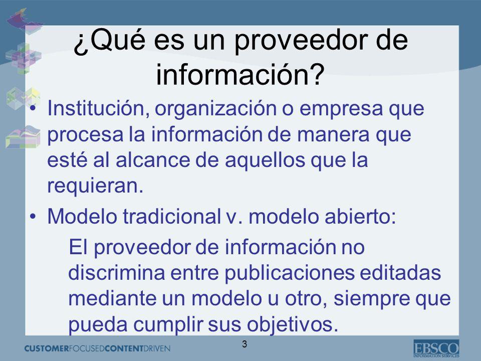 3 Institución, organización o empresa que procesa la información de manera que esté al alcance de aquellos que la requieran.