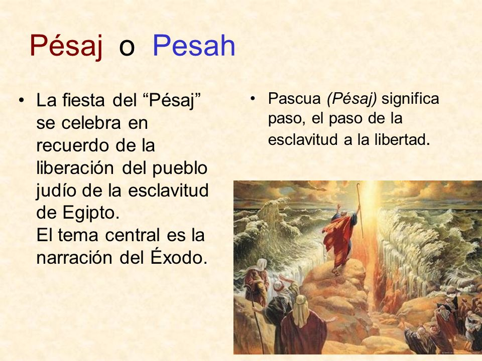 La etimología de pésaj no es clara El hebreo proviene del fenicio, del cananeo… De las palabras más importantes no se encuentra fácilmente el origen etimológico, lo mismo pasa con la palabra alianza.