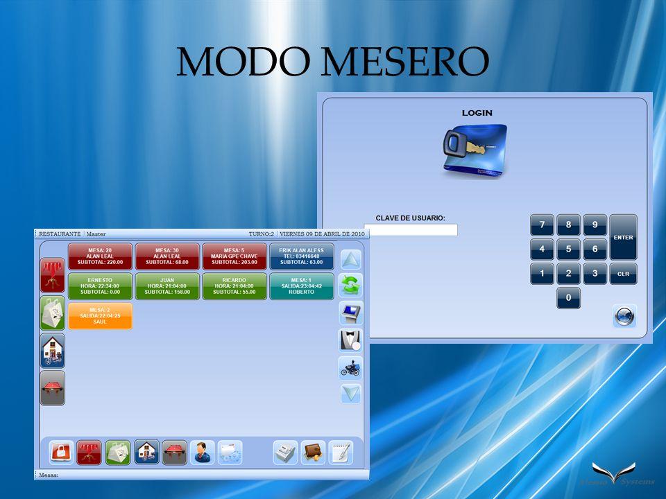 MODO MESERO