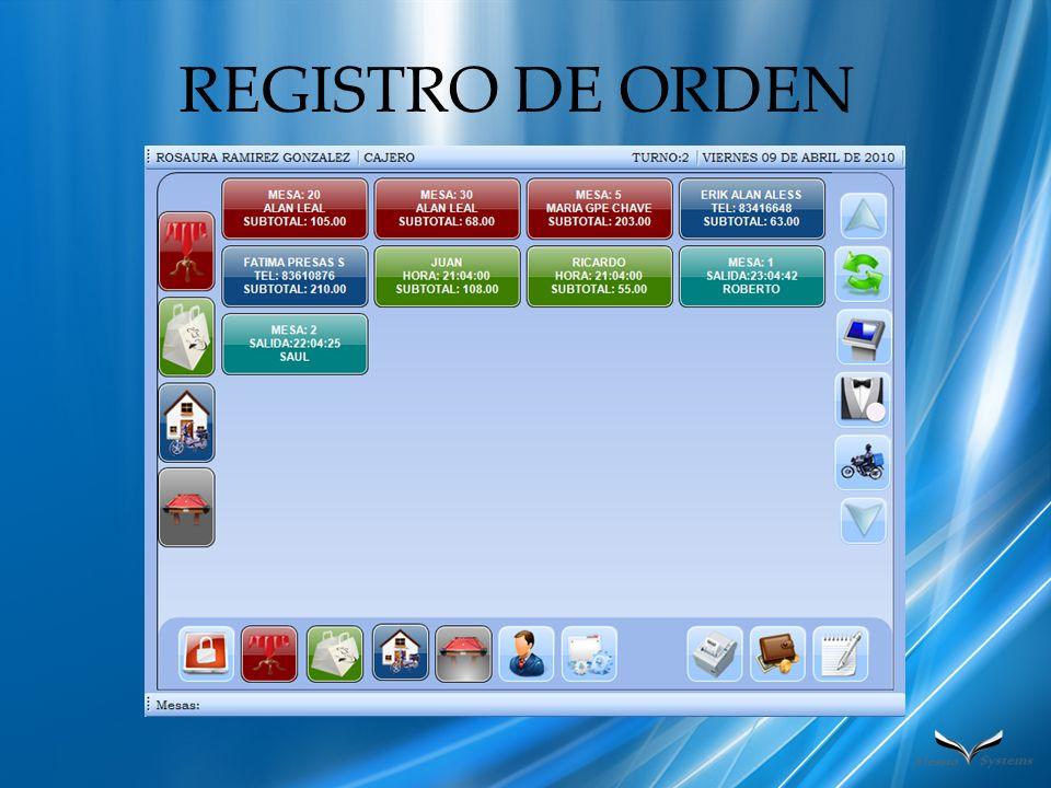 REGISTRO DE ORDEN