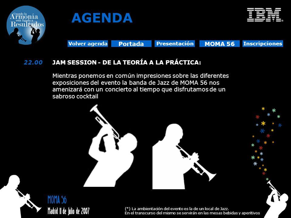 22.00JAM SESSION - DE LA TEORÍA A LA PRÁCTICA: Mientras ponemos en común impresiones sobre las diferentes exposiciones del evento la banda de Jazz de