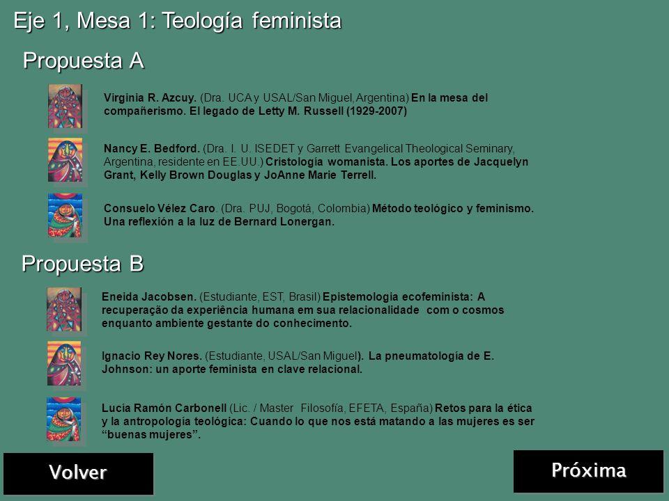 Mesa 1: Poder, violencia y empoderamiento de mujeres Mesa 1: Poder, violencia y empoderamiento de mujeres Mesa 2: Dignidad, derechos humanos y evangel