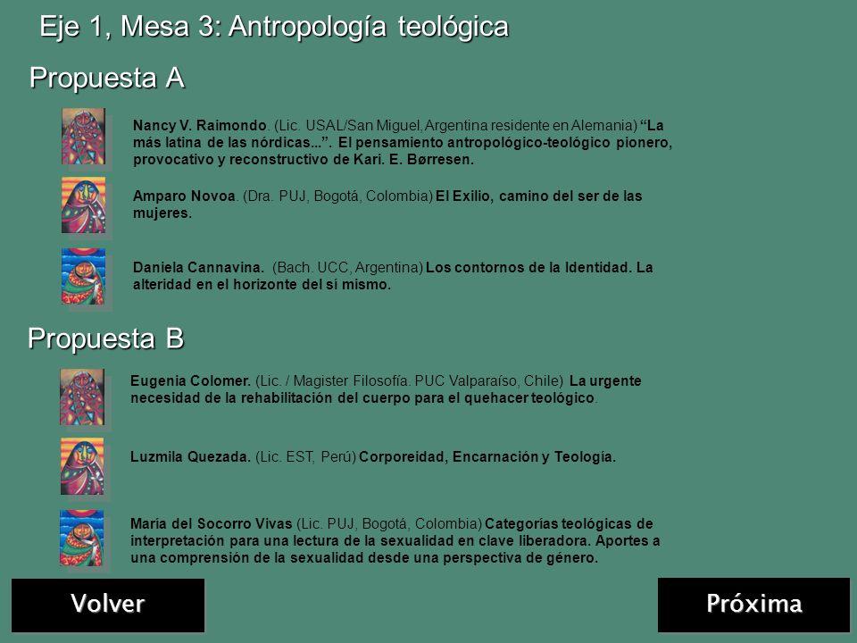 Volver Eje 1, Mesa 2: Teología y género Las comunicaciones ingresadas fueron distribuidas en otras mesas
