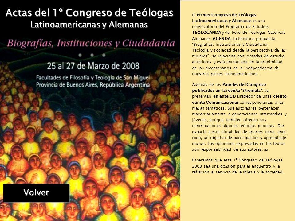 Actas del 1º Congreso de Teólogas Latinoamericanas y Alemanas Presentación Instituciones Organizadoras Instituciones Organizadoras Comité Científico C