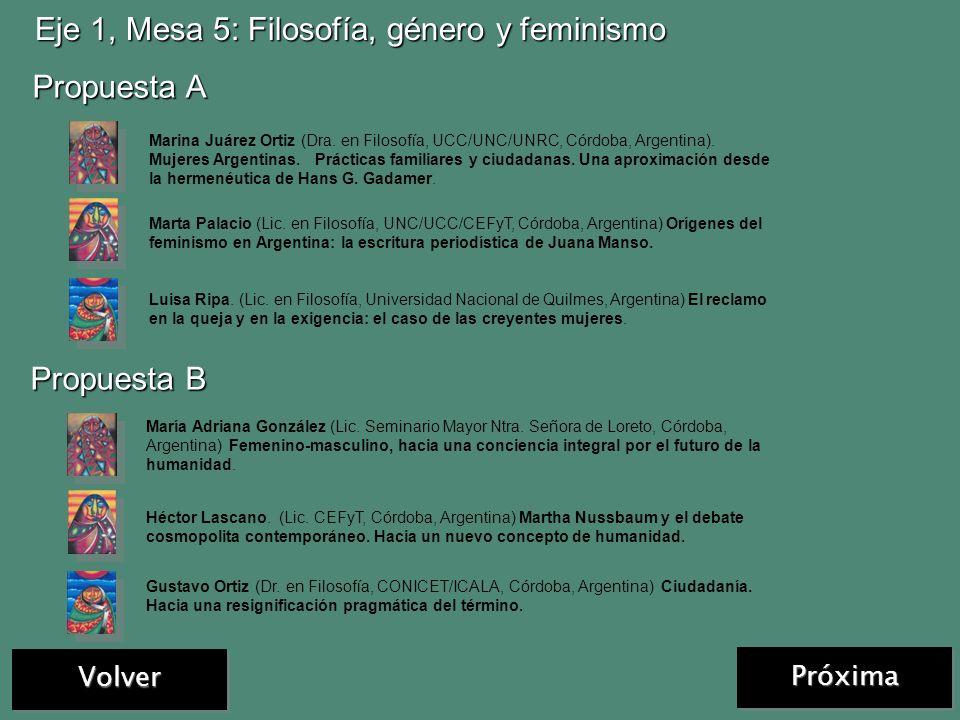 Volver Eje 1, Mesa 4: Mujeres haciendo teologías Propuesta A Propuesta B Isabel Corpas de Posada. (Dra. Universidad de San Buenaventura, Bogotá, Colom