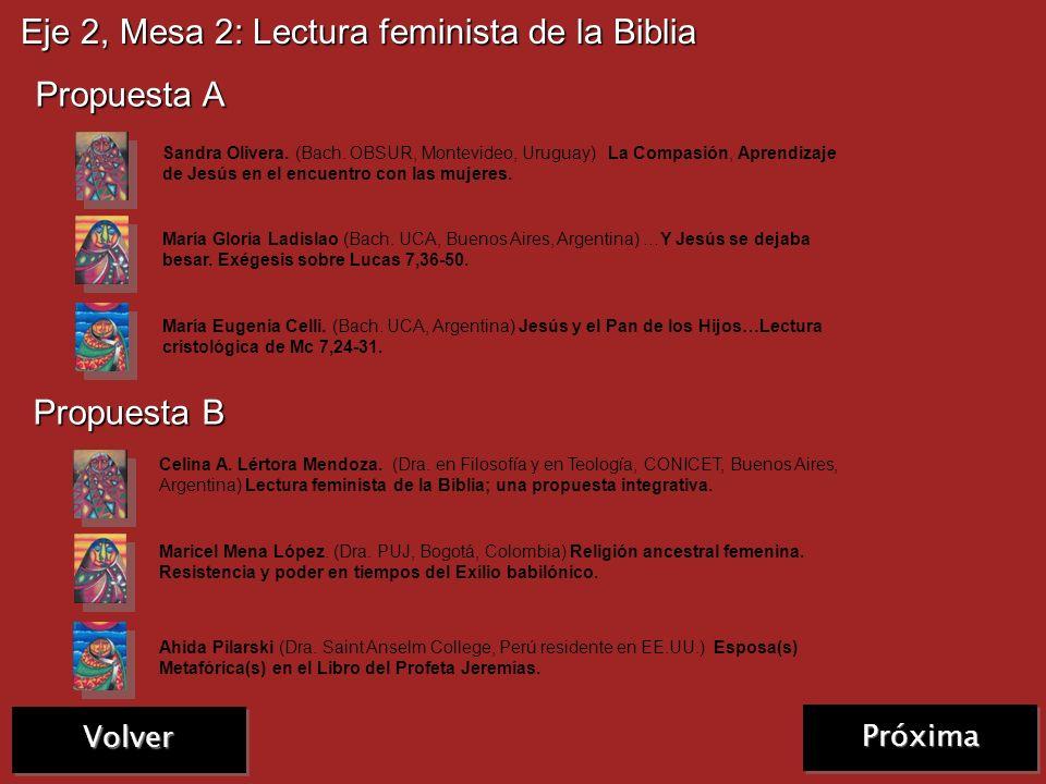 Eje 2, Mesa 1: Biblia, género e historias de mujeres Propuesta C Olga Gienini. (Lic. UCA, Buenos Aires, Argentina). El rostro exiliado de Dios. Wilma