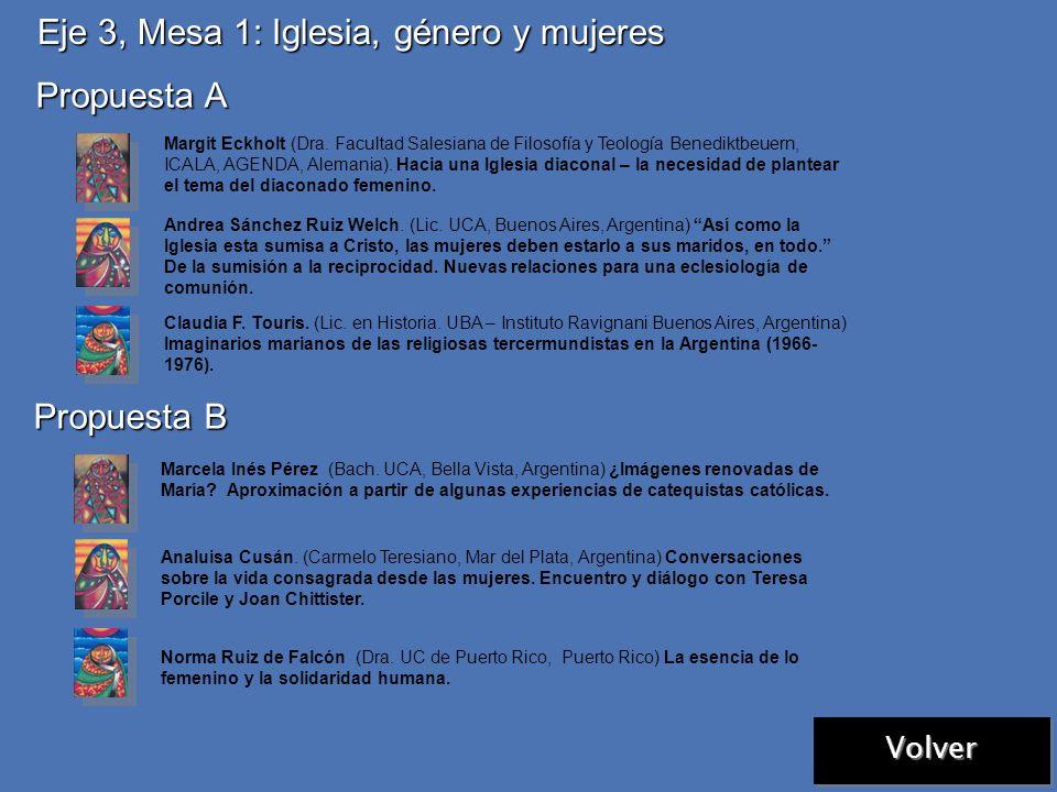 Eje 2, Mesa 1: Biblia, género e historias de mujeres Propuesta C Cecilia Inés Avenatti de Palumbo. (Dra. en Letras, UCA, Buenos Aires, Argentina) Habl