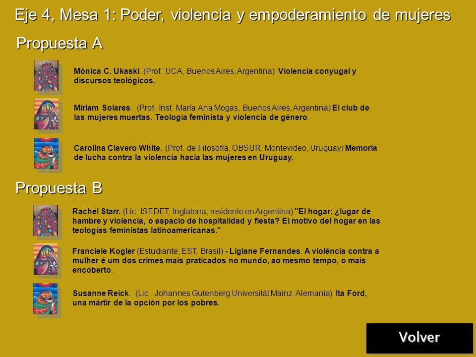 Eje 3, Mesa 6: Sociedad civil e instituciones Propuesta A Marlén Niño Escobar (Estudiante, Universidad Nacional de Colombia, Colombia) La teología con