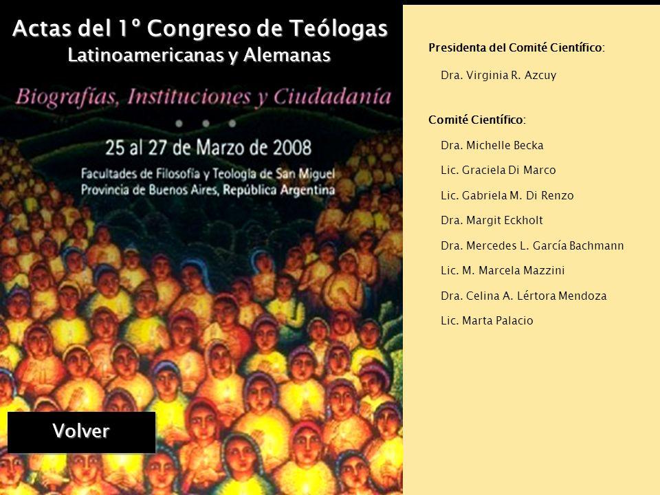 Actas del 1º Congreso de Teólogas Latinoamericanas y Alemanas TEOLOGANDA es un programa de estudios, iniciado en 2003, que reúne a un grupo creciente