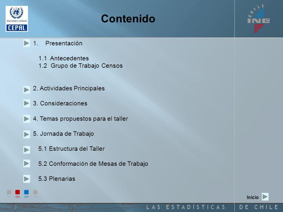 DE CHILELAS ESTADÍSTICAS Contenido 1.Presentación 1.1 Antecedentes 1.2 Grupo de Trabajo Censos 2.