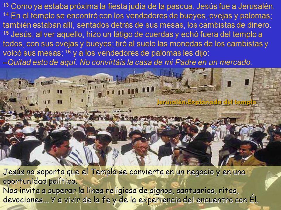 El templo forma más bien parte del ser humano religioso que del ser humano creyente.