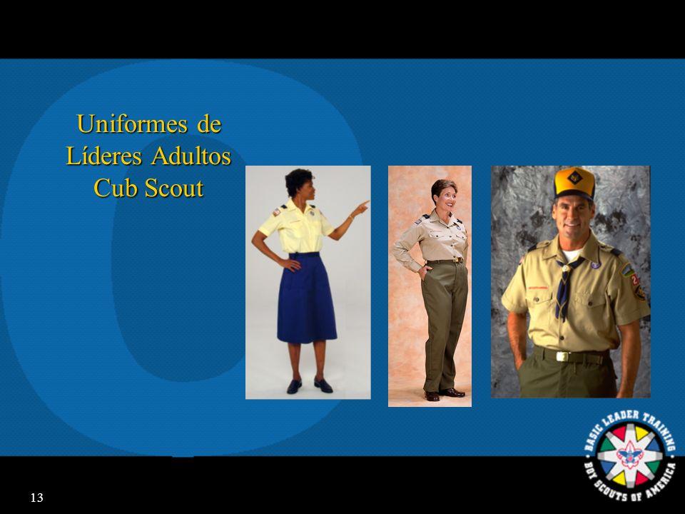 12 Uniforme Cub Scout Sentimiento de pertenencia Sentimiento de pertenencia Reconocimiento Reconocimiento Identificación con Scouting Identificación c