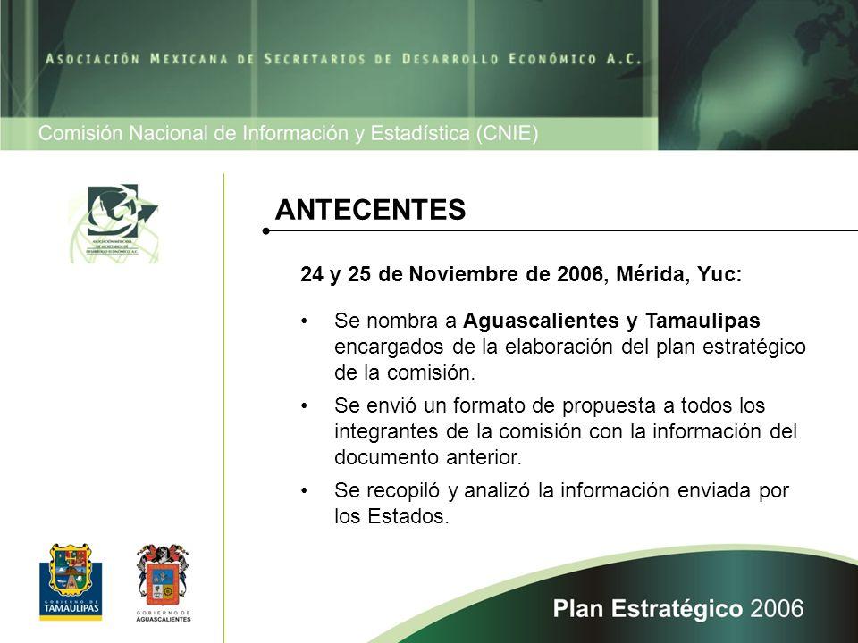 Se nombra a Aguascalientes y Tamaulipas encargados de la elaboración del plan estratégico de la comisión.