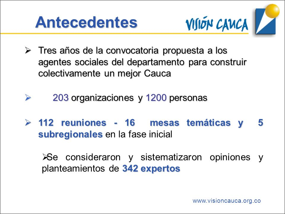 www.visioncauca.org.co Contactos:http://www.visioncauca.org.cocccauca@cccauca.org.co