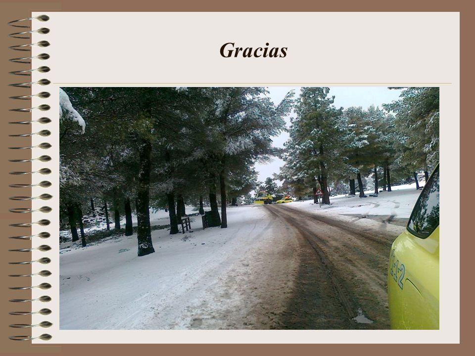 Aquí podemos apreciar la capa de nieve que había