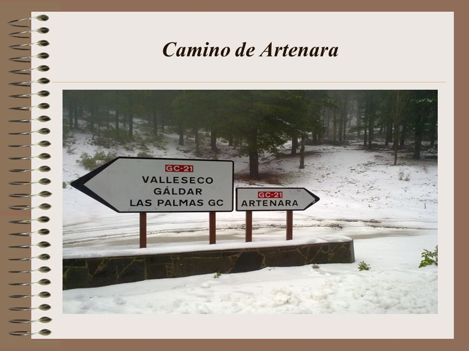 Camino de Artenara