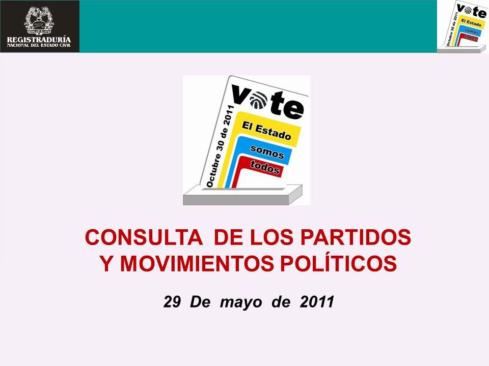 CONSULTA DE LOS PARTIDOS Y MOVIMIENTOS POLÍTICOS 29 De mayo de 2011
