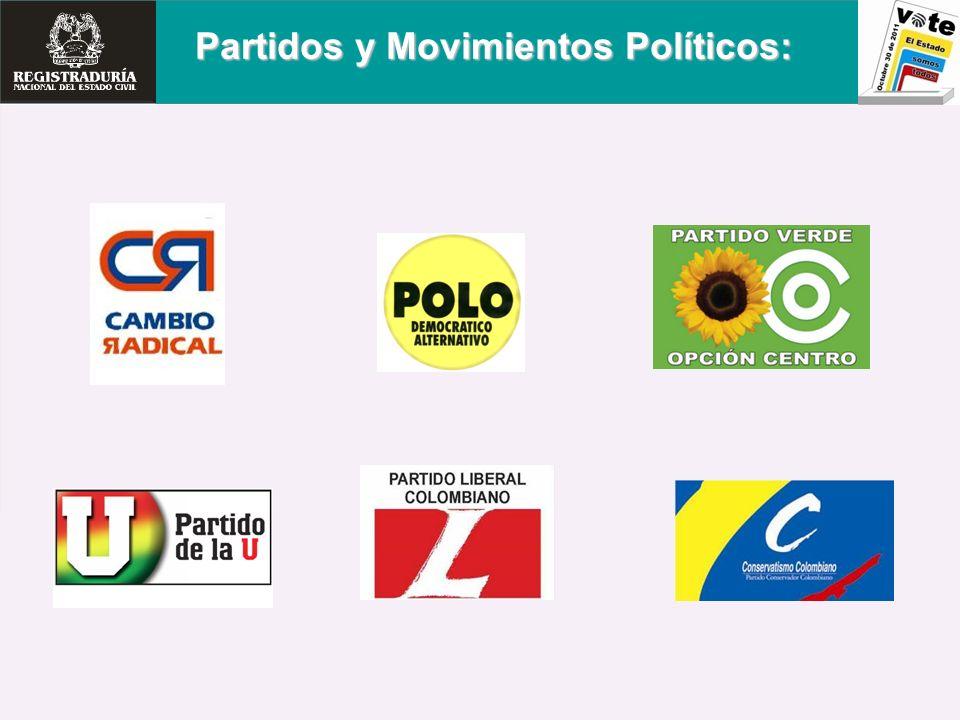 Partidos y Movimientos Políticos: