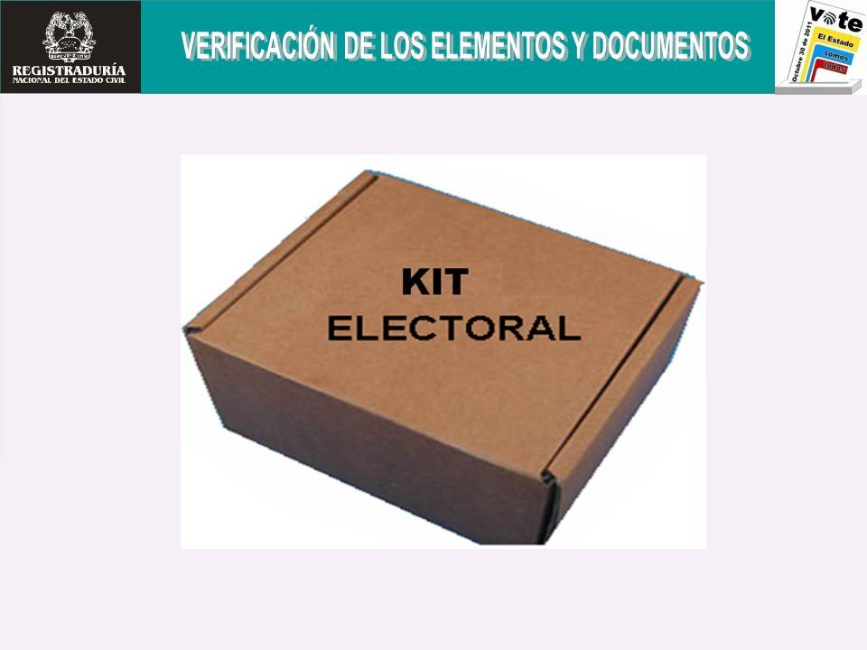 VERIFICACIÓN DE ELEMENTOS Y DOCUMENTOS El jurado verificará la existencia de los siguientes elementos y documentos.