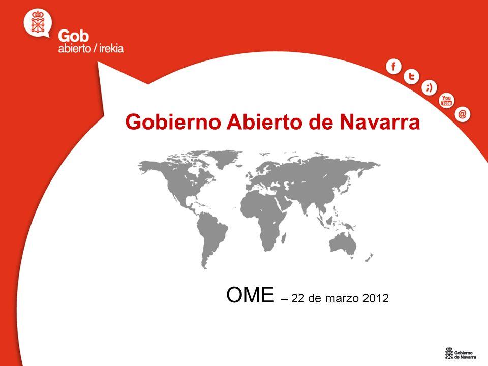 Gobierno Abierto de Navarra OME – 22 de marzo 2012