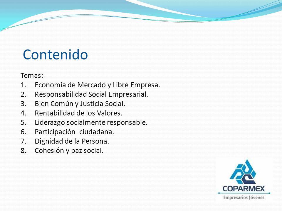 Temas: 1.Economía de Mercado y Libre Empresa. 2.Responsabilidad Social Empresarial.
