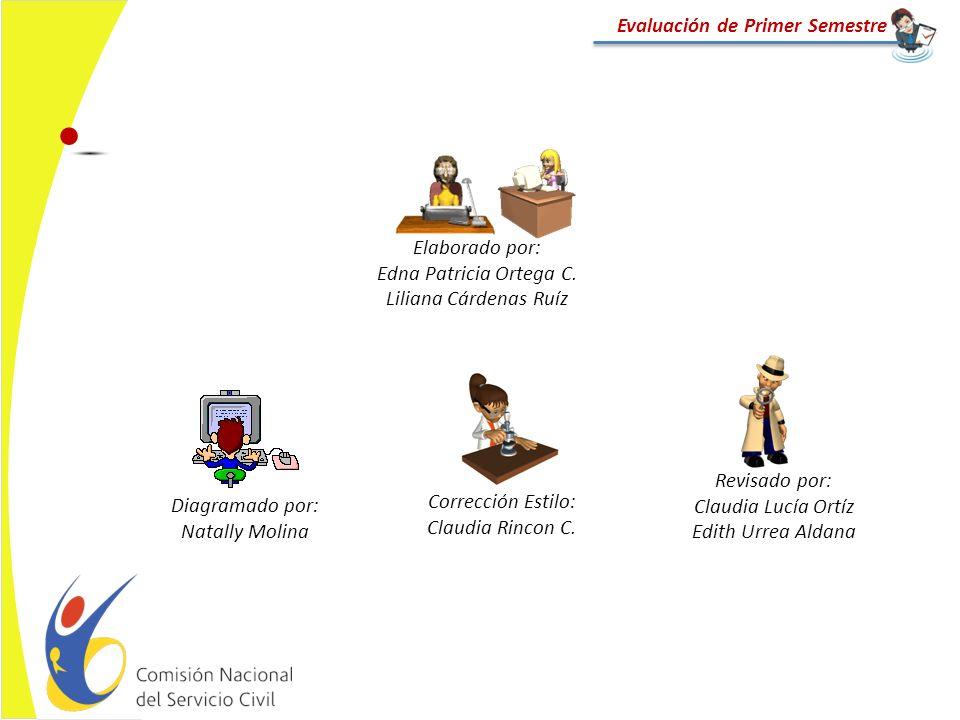 Diagramado por: Natally Molina Revisado por: Claudia Lucía Ortíz Edith Urrea Aldana Elaborado por: Edna Patricia Ortega C. Liliana Cárdenas Ruíz Evalu
