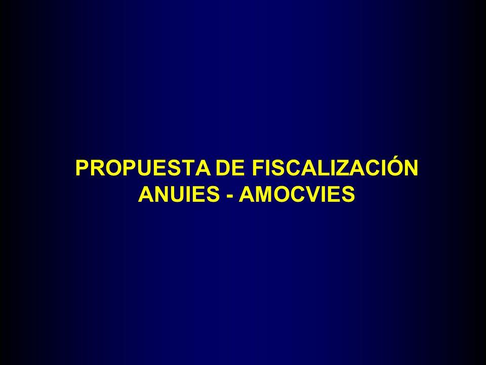 PROPUESTA DE FISCALIZACIÓN ANUIES - AMOCVIES