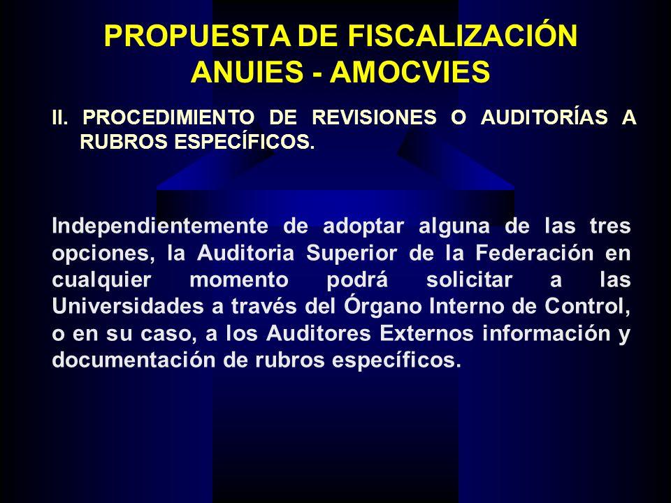 PROPUESTA DE FISCALIZACIÓN ANUIES - AMOCVIES II.
