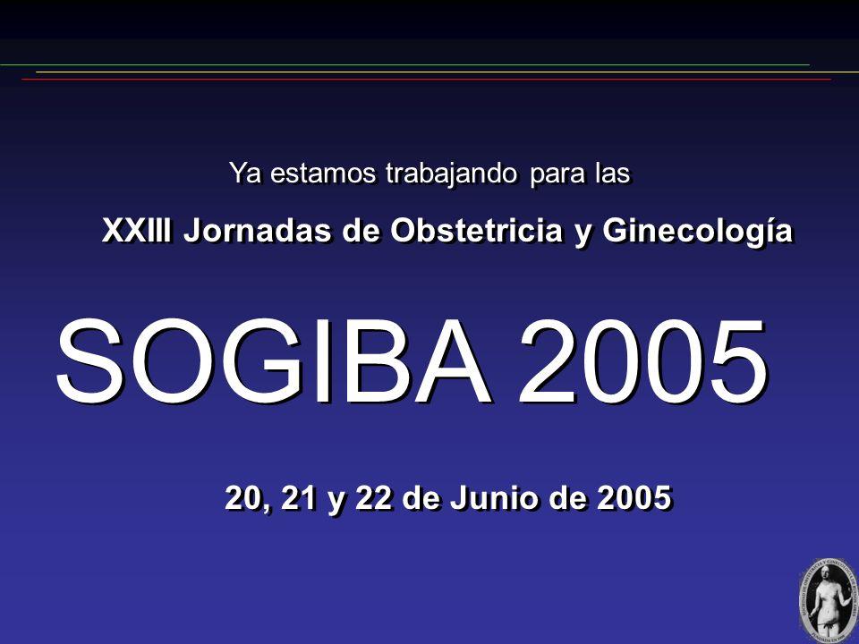 S O G I B A 2 0 0 4 Gracias a las Empresas que han contribuido NOVARTIS ARGENTINA S.A. OMEGA, ESPECIALIDADES MEDICINALES ORGANON ARGENTINA S.A. PFIZER