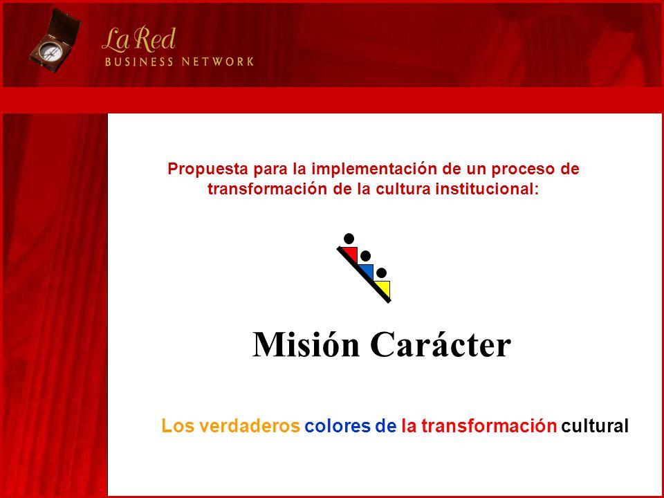 Propuesta para la implementación de un proceso de transformación de la cultura institucional: Misión Carácter Los verdaderos colores de la transformac