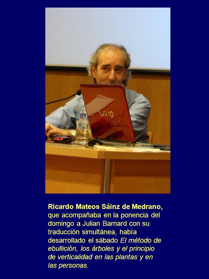 Ricardo Mateos Sáinz de Medrano, que acompañaba en la ponencia del domingo a Julian Barnard con su traducción simultánea, había desarrollado el sábado