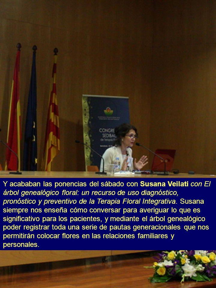 Y acababan las ponencias del sábado con Susana Veilati con El árbol genealógico floral: un recurso de uso diagnóstico, pronóstico y preventivo de la T