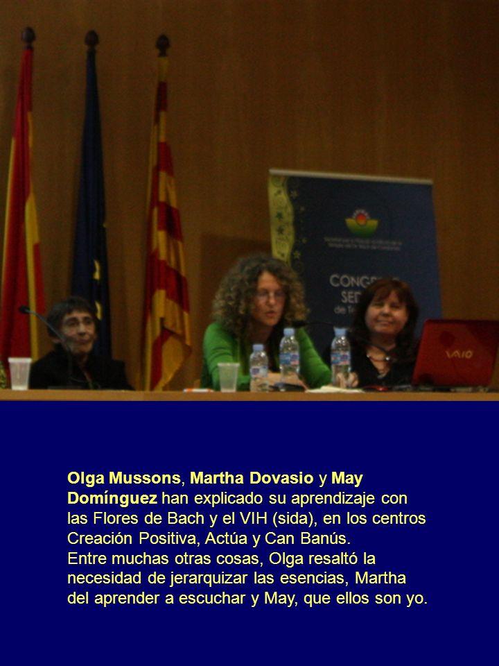 Olga Mussons, Martha Dovasio y May Domínguez han explicado su aprendizaje con las Flores de Bach y el VIH (sida), en los centros Creación Positiva, Ac