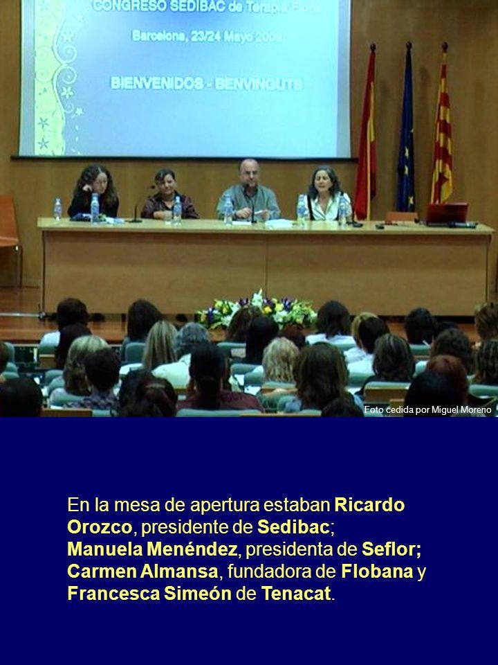 En la mesa de apertura estaban Ricardo Orozco, presidente de Sedibac; Manuela Menéndez, presidenta de Seflor; Carmen Almansa, fundadora de Flobana y F