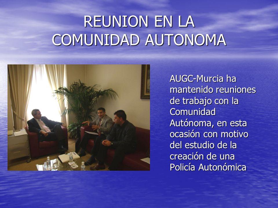 REUNION EN LA COMUNIDAD AUTONOMA AUGC-Murcia ha mantenido reuniones de trabajo con la Comunidad Autónoma, en esta ocasión con motivo del estudio de la
