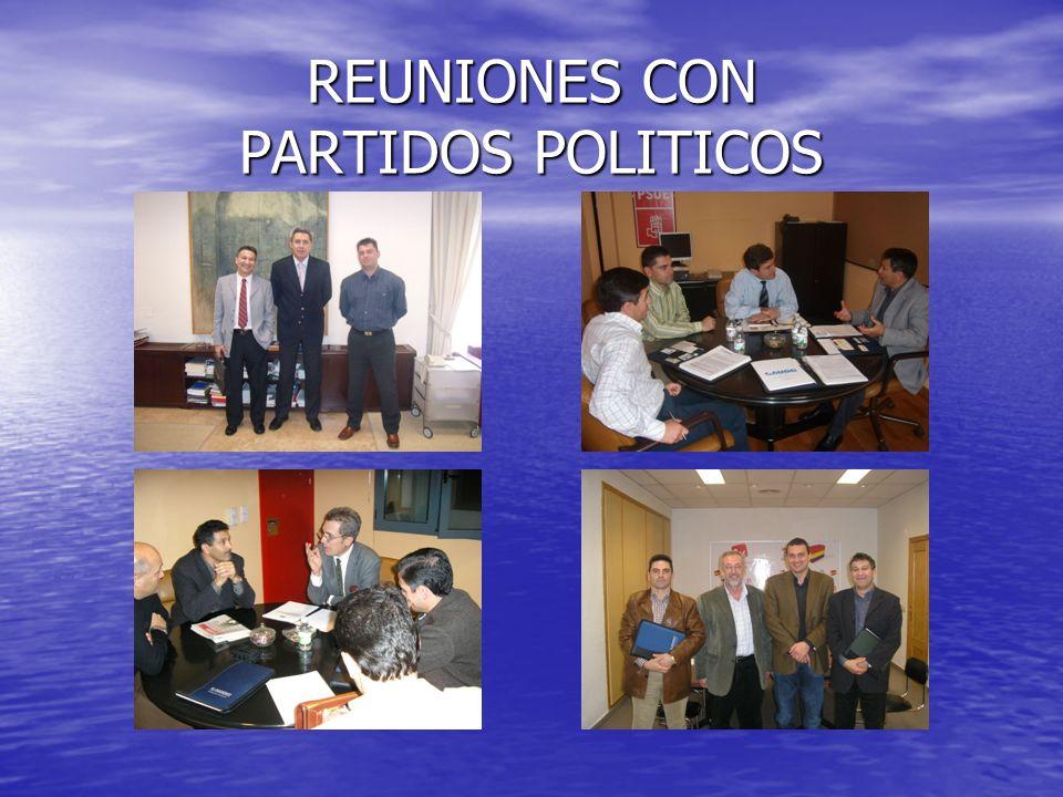 REUNIONES CON PARTIDOS POLITICOS