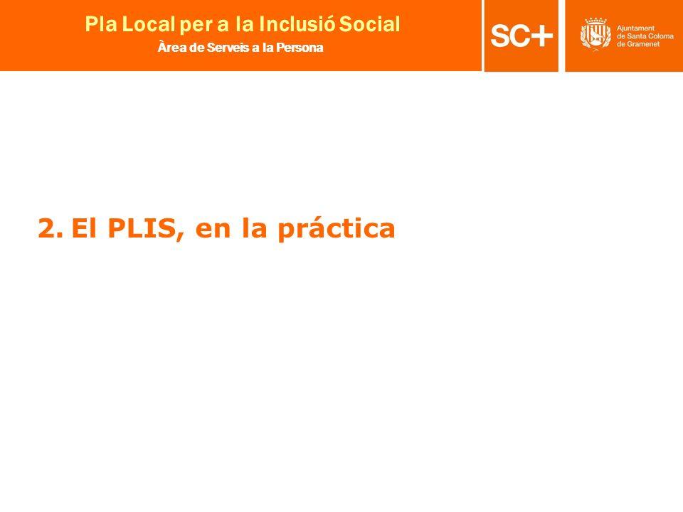 11 Pla Local per a la Inclusió Social Àrea de Serveis a la Persona 2.El PLIS, en la práctica