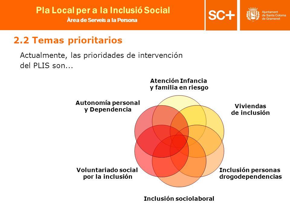 13 Pla Local per a la Inclusió Social Àrea de Serveis a la Persona Atención Infancia y familia en riesgo Viviendas de inclusión Inclusión personas dro