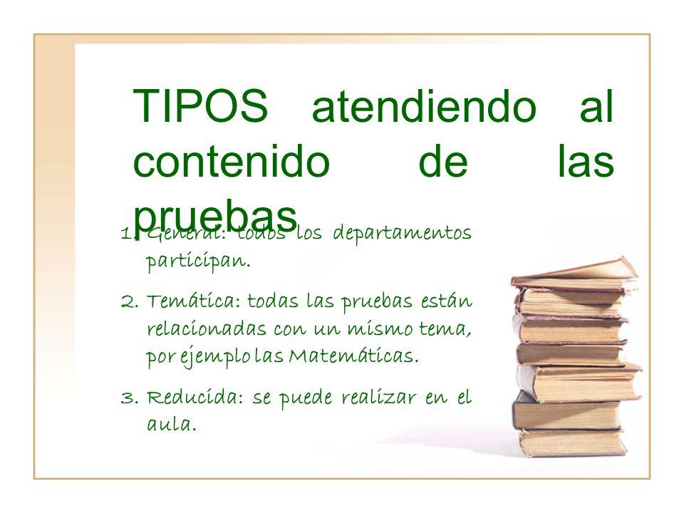 TIPOS atendiendo a la forma de obtener las pistas 1.CERRADA: En espacios cerrados, normalmente el centro educativo.