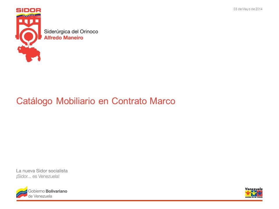 03 de Mayo de 2014 Catálogo Mobiliario en Contrato Marco